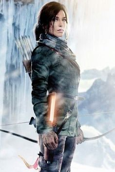 Lara Croft. A reverberating bending look of a Female Warrior...