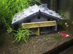 Aquarium Haus Almhütte - Höhle Versteck Deko