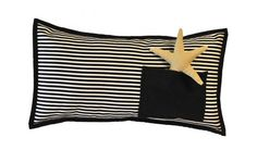 Pillow Cover Marine  with Linen Star  Marine Pillow by ByYolanda, €45.00