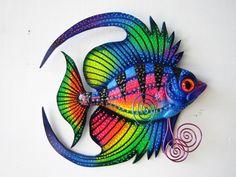 Escultura de pared arte los pescados por artistJP en Etsy