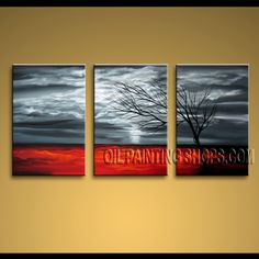 Enchant Modern Abstract Painting High Quality Oil Painting For Bed Room Landscape. This 3 panels canvas wall art is hand painted by Bo Yi Art Studio, instock - $145. To see more, visit OilPaintingShops.com