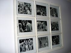 Window picture frame- could alternate pictures horizontally and vertically