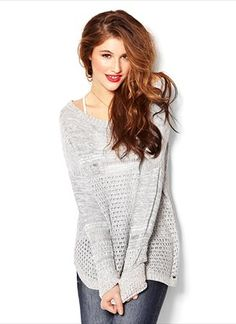 Drop Shoulder Crochet Sweater from Garage Cute Fashion, Fashion Beauty, Fashion Outfits, Garage Clothing, Autumn Winter Fashion, Winter Style, Classy And Fabulous, Everyday Look, Well Dressed