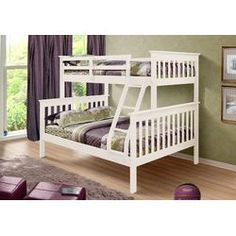 Donco Kids Twin over Full Bunk Bed with Built-In Ladder   Wayfair