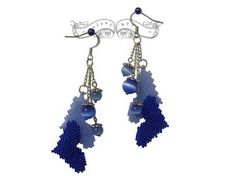Cuoricini Azzurri Earrings by GelseyNyx on Etsy, $25.00