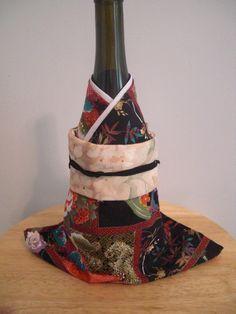 Kimono Wein Willen 4fach Reversible Flasche Wrap von KizunaKimono, $19,99