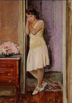 Young Girl Dreaming in a Room - Henri Lebasque (French, 1865-1937) Post-Impressionism
