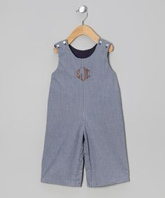 Classic gingham for boys.  Monogrammables by Rosalina | Daily deals for moms, babies and kids