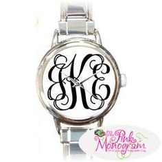 Monogrammed Womens Watch In Vine Font-love love love this