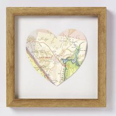 Fun gift idea for a newlywed, map the city wedding took place