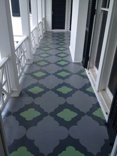 Painted floor by Sunny Goode, Richmond VA.  LOVE!! Palettepaint.com for supplies!