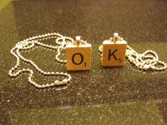 Scrabble Necklace with Chain Pick your letter by DigitalCake, $5.50