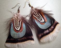 Turkey and PheasantFeather Earrings by GirlCandyDesigns on Etsy, $19.95