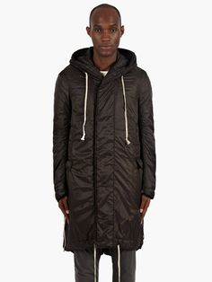 Rick Owens Drkshdw Men's Black Padded Fishtail Parka | oki-ni