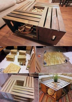Are you looking for some woodworking projects to do this winter? If you're looking for woodworking DIY ideas you'll love this post! Here are 10 woodworking projects to do this winter! Diy Para A Casa, Diy Casa, Crate Furniture, Home Furniture, Crate Nightstand, Diy Home Crafts, Diy Home Decor, Woodworking Projects, Kitchen Decor