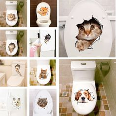 3D Cats Wall Sticker Bathroom Toilet  Price: 0.99 & FREE Shipping   #Home #ShopGifts #ShopBedding #ShopWalldecor #ShopHomegifts #Letsgoshopping