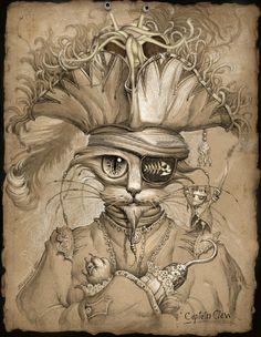 FSM The Flying Spaghetti Monster cat pirate