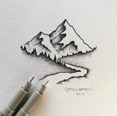 art drawing dot work artist artistic tattoo sketch art drawing dot work artist artistic tattoo sketch Source by emmanuellatjampens Dotted Drawings, Art Drawings Sketches, Cool Drawings, Small Drawings, Ink Pen Drawings, Tattoo Sketch Art, Tattoo Drawings, Art And Illustration, Mountain Illustration