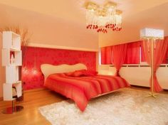 romantic bedroom colors for your private ambiance with orange theme