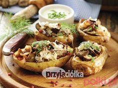 Ziemniaki faszerowane grzybami - Przepis