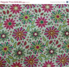 SPECIAL SALE - Cotton Fabric, Quilt, Home Decor, Modern, MEADOW Melody by Wilmington Prints, Fast Shipping Md140