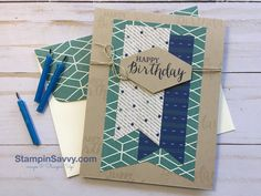 StampinSavvy.com - Quick & Easy masculine Birthday Card