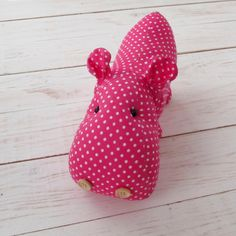 Lerika Doll - Hippo - Textile Doll - Fabric Doll - Interior Doll - Rag Doll - Handmade Dolls - Christmas Gift for Girl - Hippopotamus  This handmade toy made of high quality materials. It is a lovely ridiculous toy for children and for decoration of a nursery.  - Color: bright pink polka dot - Size : 12 sm (5) - Material: cotton fabric - How to Care: only dry clean  If you like hippo - click on the Add to cart button and for 3-5 business days after your payment this cute toy will go to you…