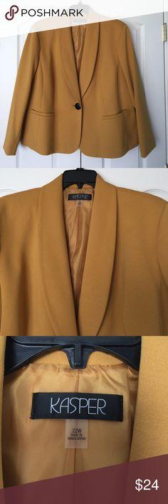 Spotted while shopping on Poshmark: Mustard yellow blazer! #poshmark #fashion #shopping #style #Kasper #Jackets & Blazers