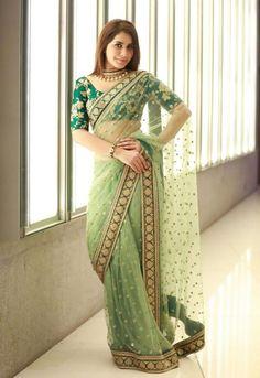 Bollywood Party Wear Saree Designer Wedding Bridal Saree Indian Pakistani Sari 1