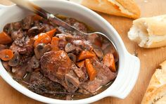 Simple Slow Cooker Coq Au Vin Recipe from Whole Foods Market on FoodPair Slow Cooker Soup, Slow Cooker Recipes, Cooking Recipes, Fondue Recipes, Slow Cooking, Crockpot Beef Bourguignon, Whole Foods Market, Whole Food Recipes, Gastronomia