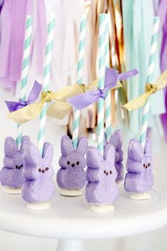 Loving these bunny treats at this Kids Easter Party! See more party ideas and share yours at CatchMyParty.com