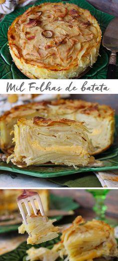 Quando quiser tirar a batata da mesmice, experimente fazer este Mil Folhas de Batata gratinado ao forno, com queijo puxa puxa. Receita, descomplicada e fácil de fazer. Ideal para aqueles …