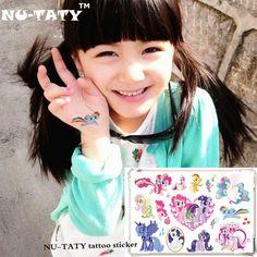 NU-TATY My Little Pony Toy Child Temporary Tattoo Body Art Flash Tattoo Stickers 17*10cm Waterproof Styling Fake Tatoo Sticker