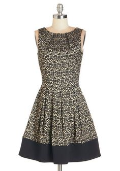 Luck Be a Lady Dress in Garden Gate. If youve been searching for a charming new frock, then youre in luck! #gold #modcloth Perfect party dress!!