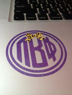 Pi Beta Phi monogram decal #piphi #pibetaphi