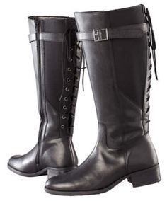 Boots For Wide Calves: lace-up boots from Curvissa