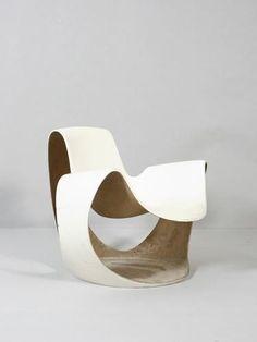 Danielle Quarante, Fiberglass Albatros Chair for Airborne, 1969.
