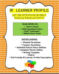 This is a great icebreaker activity for the first week of school! Students each… First Day Activities, Icebreaker Activities, Back To School Activities, Public Speaking Activities, Ib Learner Profile, Introduction Activities, Writing Outline, Team Building Exercises, Bulletin Board Display