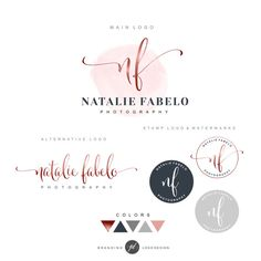 Premade Branding Kit Photography logo Watermark by GDLogoDesign