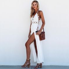 From one of the most popular muses of Sabo Skirt, we made a selection of her best summer or beach outfits Sabo Skirt, Beach Look, Bridal, Formal, Chic, My Style, Womens Fashion, Casual, Skirts