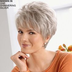 Buy Fashion Women's Medium Short Straight Natural Hair Wigs Full Party (Color: Silver gray) at Wish - Shopping Made Fun Hair Styles For Women Over 50, Short Hair Cuts For Women, Short Hairstyles For Women, Medium Hair Styles, Curly Hair Styles, Natural Hair Styles, Short Haircuts, Short Grey Hair, Short Hair Wigs