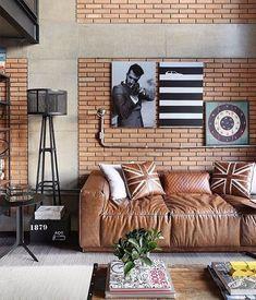 Interior Design and Home Decor Ideas Urban House, Loft Design, House Design, Interior Design Boards, Brick Interior, Interior Walls, Industrial Interior Design, Industrial Style, Loft Interiors