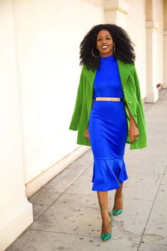 Structured Coat + Trumpet Midi Dress - Style Pantry » My Style - Total Street Style Looks And Fashion Outfit Ideas
