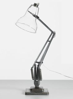 I am loving the re-visited design classics of Henry Wilson, including shown here his LED version of the anglepoise lamp and leather cover for the classic galvanised 'A' chair. Interior Lighting, Modern Lighting, Lighting Design, Retro Industrial, Industrial Design, Lamp Light, Light Up, Desk Light, Anglepoise Lamp