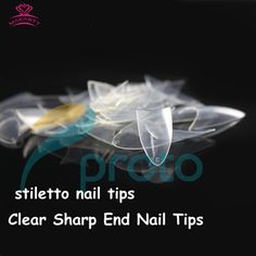 MAKARTT 500 Sharp Ending Clear French Acrylic Nail Art Tips Stiletto Nails False Nail Tips Nail Decorations Dropshipping A0024 #Stiletto nails  	  	   	Stiletto tips  	French nail art tips,  	500 tips in bag,10 sizes  	color:Clear  	Material:ABS  	professional salon quality  	    	package includes:  	500 tips Clear stiletto nail tips