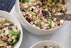 It's funny, when I get swept up in weeks and months of eating poorly – too much grazing on too much junk (I really am more lowbrow than people think I am) – how quickly I forget how much I love grainy salads like this. Quinoa with black beans and mango, wild rice and lentils, brown rice with barley and chickpeas – all jumbles of good things that make me feel and function so much better (and far wider awake) than a diet of toast, Cheezies, coffee and wine. Funny, that. Funny too how my body…