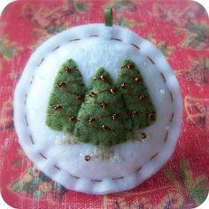 The Tiny Garden Leslie -  Christmas Olive Trees on white.
