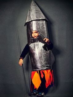 Learn how to make this soaring rocket costume.