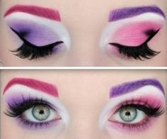 pretty pink and purple eyes