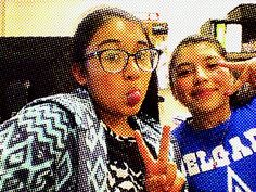 Me and my friend Jessica,these r her glasses.#selfietime
